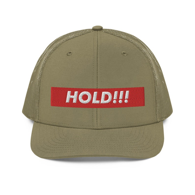 Hold The Line Box Logo Diamond Hands Richardson 112 Trucker Hat