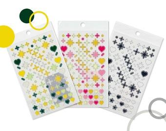 Silver Line Deco Stickers - High Quality Korean Stickers - Deco Stickers - Clear Stickers - Polco Deco Stickers - Kpop Photocard Deco