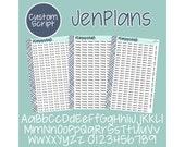 JP CUSTOM - JenPlans Font Planner Stickers (Limit One word/phrase per Sheet) photo