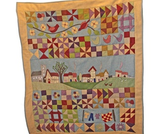 Village Green row by Row, Block of the Month patchwork quilt kit