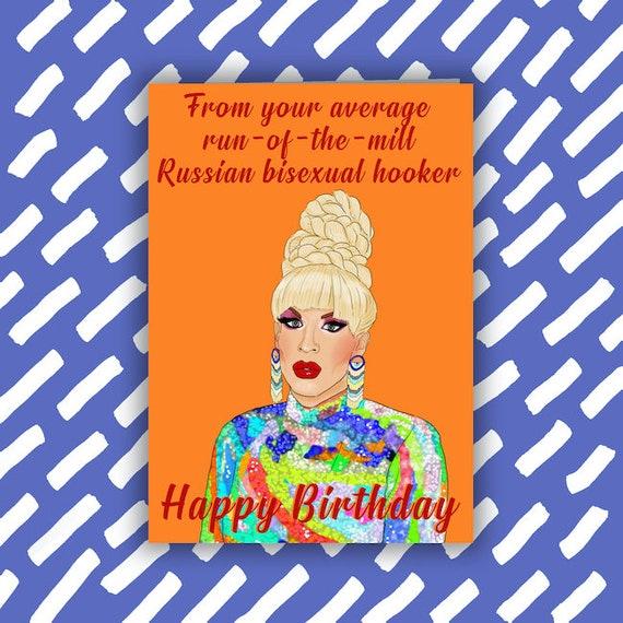 RuPaul/'s Drag Race Bianca Del Rio Birthday Card LGBTQI Drag Queen Gay cards
