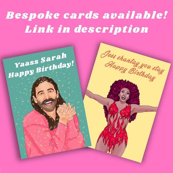 Lesbian LGBTQI Gay Card The L word Bette /& Tina Happy Anniversary card