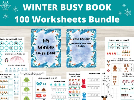 Winter worksheets bundle Winter Busy Book Winter Activities
