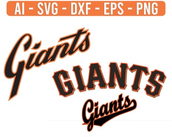 Giants Baseball Svg Etsy