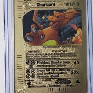 Top Loader Pokemon Entei GX Full Art Silver Metal Custom Card Hard Metal