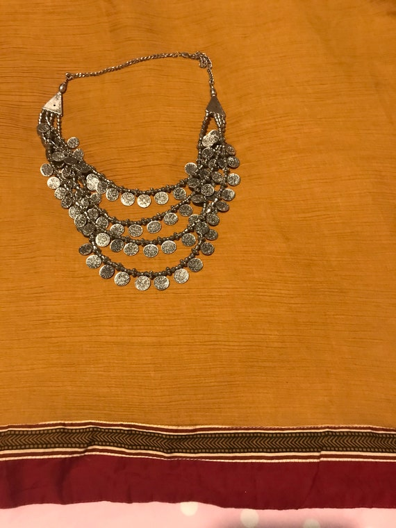 Coin German silver tribal Necklace