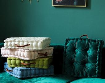 Multi-color velvet sofa cushion,baroque sofa cushion,french mattress cushion,baroque home decor,floor cushion,floor pillow,cushions