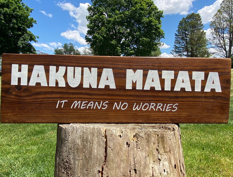 Holzschilder Hakuna Matata Es bedeutet keine Sorgen Holz