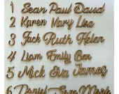 Script font, Personalised wooden names, Hand made , Laser cut, Personalised to suit, 24 Fonts - Name Plaque Sign - Wall art and door craft