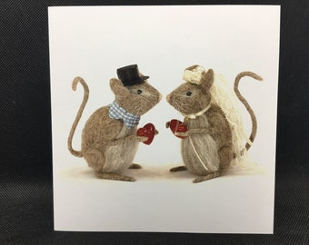 5 Luxury Mouse Cards,  Any occasion, Blank Inside, Assorted Designs