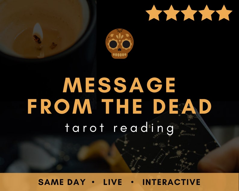 Same day LIVE Message from the Dead Tarot Reading  Real image 0
