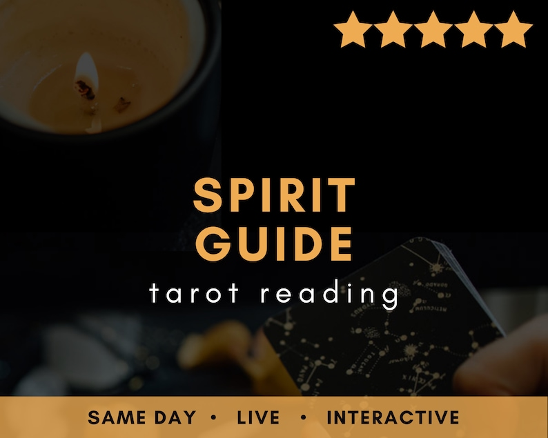 Same Day LIVE Spirit Guide Tarot Reading  Real Shadow Angel image 0