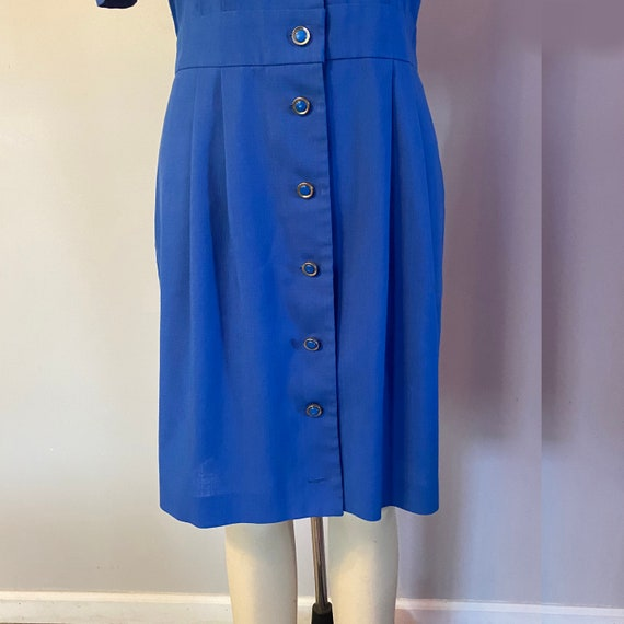 80's Puff Sleeve Dress - image 9