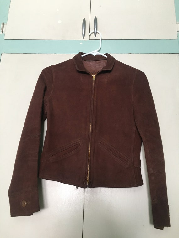 1930s Lawrence Leathers Suede Jacket XS Womens