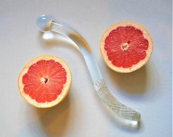 Glass Cervical & G spot dildo wand