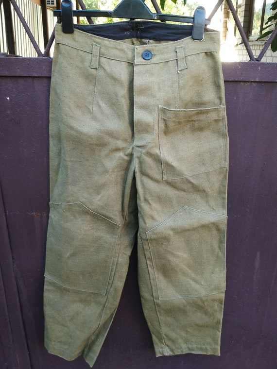 Vintage Canvas Pants, Khaki Pants, Work Pants, 197