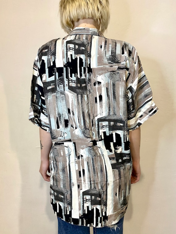 IMPACT Vintage Womens Shirt Abstract Blouses Retr… - image 5