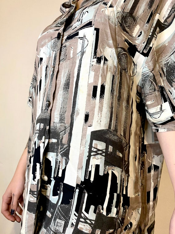 IMPACT Vintage Womens Shirt Abstract Blouses Retr… - image 6