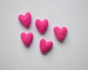 Wool Felt Shapes For Felt Garland • Mini Heart • Choose Your Color • 3cm