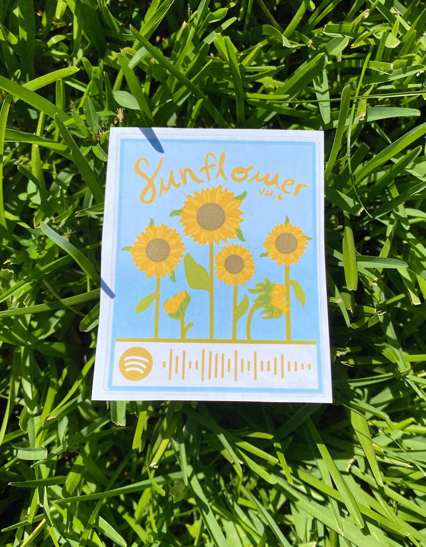 Harry Styles Sunflower Vol. 6 Spotify Code Sticker | Etsy