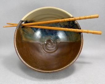 Noodle Bowl, Ramen Bowl in Moon Pie Satin Matte Glaze