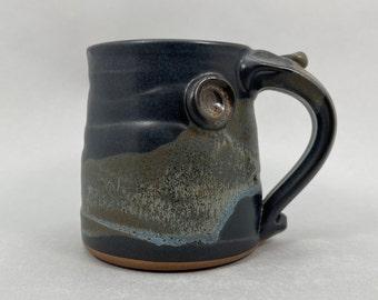 Pottery Coffee Mug in Midnight Zen Satin Matte Glaze