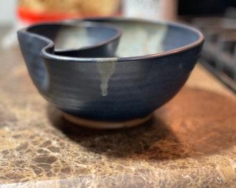 Individual Chip and Dip in Midnight Zen Satin Matte Glaze