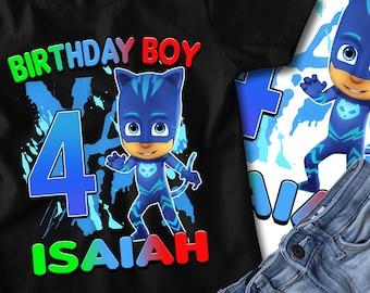 CATBOY PJ Masks Birthday Shirt, Catboy PJ Masks Birthday T-Shirt, Catboy, Pj Masks, Personalized Shirt, Pj Mask Birthday