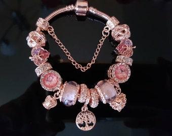 Gold Charm Bracelet Etsy