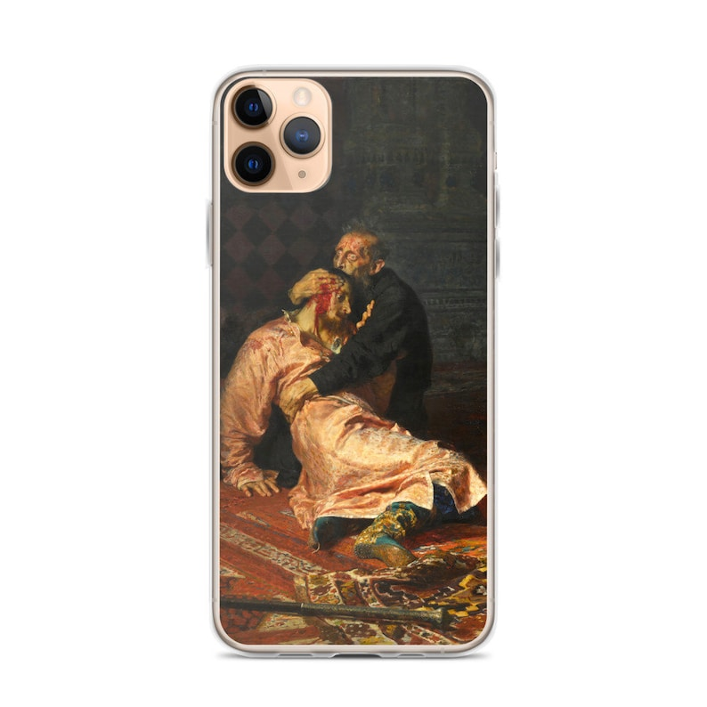 history painting Ivan the Terrible and His Son Ivan on November 16th by  Ilya Repin iPhone/& Samsung Case oil on canva