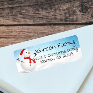 Winter Fun-Customized Address Label Aviation snowman Personalized Return Address Label 22103