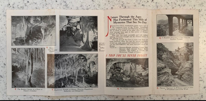 CO 3 Three Vintage Travel Brochures from Cave of the Winds at Manitou Springs