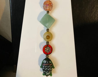 Green and Red - My Favorite Beads - Suncatcher