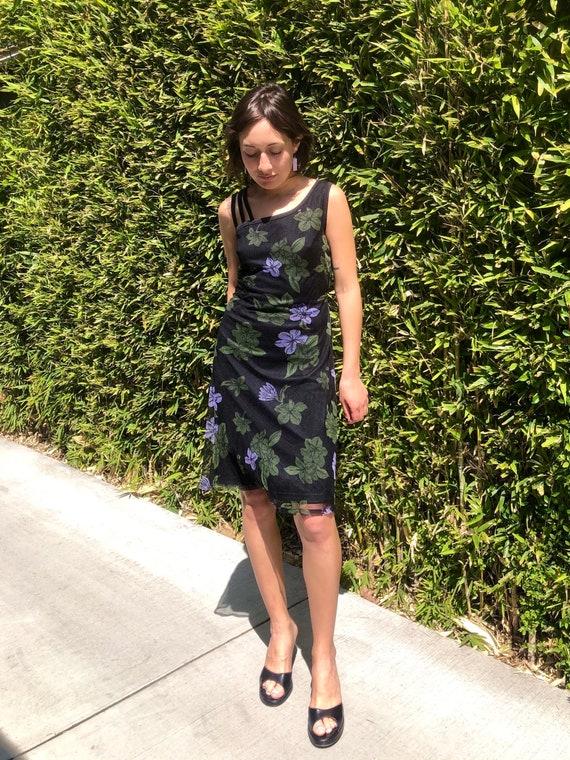 90s floral slip dress - image 2