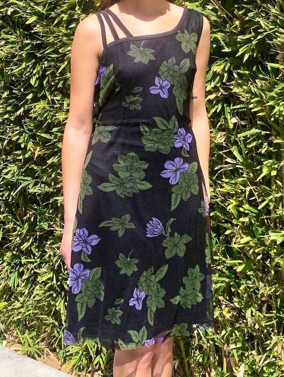 90s floral slip dress - image 5