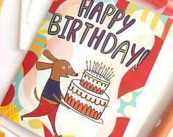 Happy Birthday Dog Card