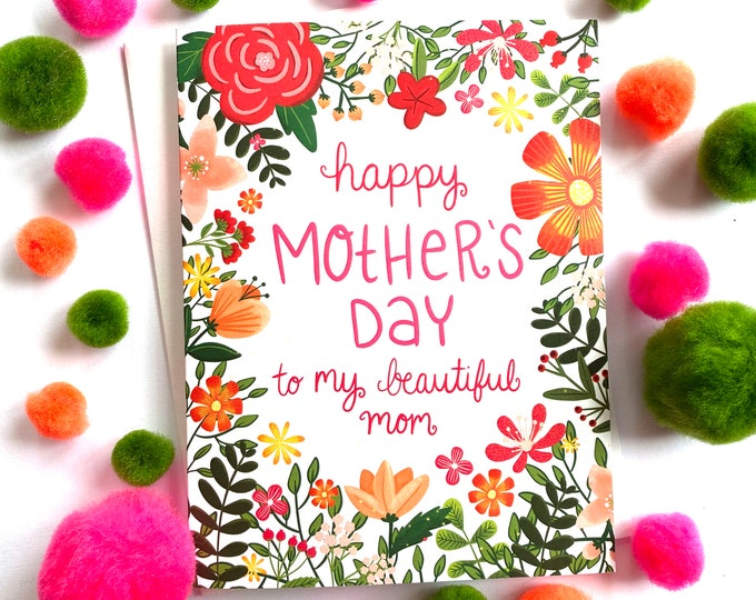 Featured listing image: Mothers Day Cards, You're the Best Mom, Best Mom Ever, Happy Mothers Day Card, Best Mom, Mothers Day Gift from Daughter