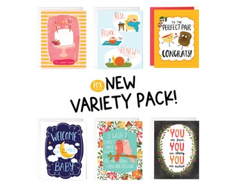 6 Card Variety Pack
