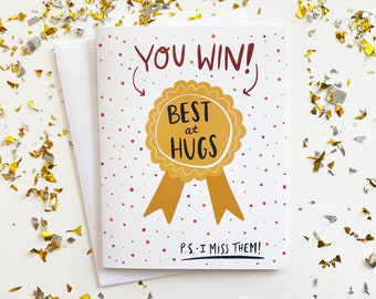 Best At Hugs Miss You Card