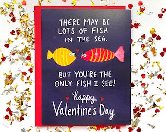 Fish in the Sea Valentine's Day Card