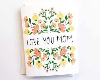 Mothers Day Card, Love You Mom, Mothers Day Gift, Cards-Happy Mothers Day, Happy Mothers Day Card, Miss You Mom, Mom Birthday, Best Mom