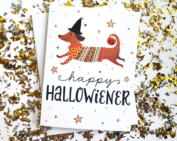Featured listing image: Weiner Dog Halloween Cards