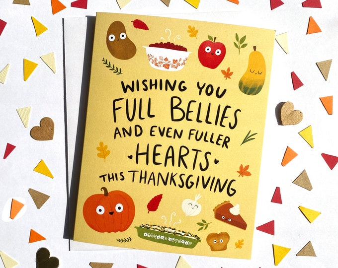 Featured listing image: Cute Foods Thanksgiving Card