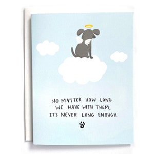 Embossed Pet Loss Sympathy Card