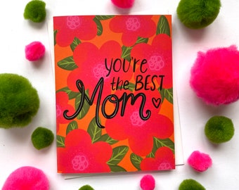 Mothers Day Cards, You're the Best Mom, Mothers Day Gift, First Mothers Day Card, Mothers Day Card for Best Friend, Mothers Day Card Wife