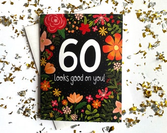 60th Birthday Card, 60th Birthday Gifts for Women, 60th Birthday Cards for Women, 60th Birthday Card Mom, 60 Birthday Card