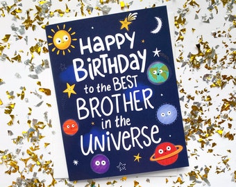 Birthday Card Brother, Birthday Gift for Brother from Sister, Brother Birthday Gift, Funny Birthday Card for Brother, Brother Birthday Card