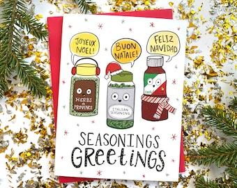 Funny Christmas Card, Punny Christmas Card, Holiday Card, Cute Christmas Cards, Joyeux Noel, Buon Natale, Cool Christmas Card