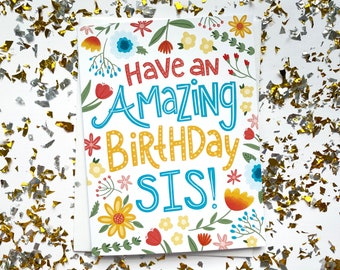 Sister Birthday Card, Sister Birthday, Happy Birthday Sister Card, Little Sister Birthday Card, Best Sister Birthday, Sister in Law Gift