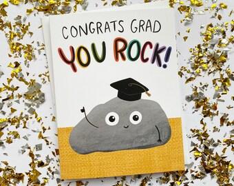 You Rock Funny Graduation Card